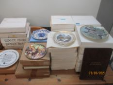 A quantity of various sets of boxed collectors plates to include a set of twelve Game Birds of the
