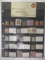 Great Britain stamps - Queen Victoria up to 1884, range from imperf/perf Reds - Surface printed