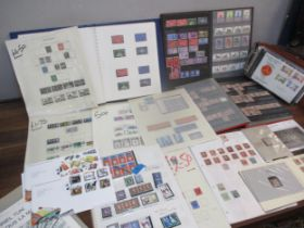 British stamps to include a large number of Penny reds, a Penny Black, 2 Beatles First Day Covers,