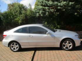A 2008 Mercedes CLC180 Kompressor with private number plate S5 REX, 51000 miles, 2 owners since new,