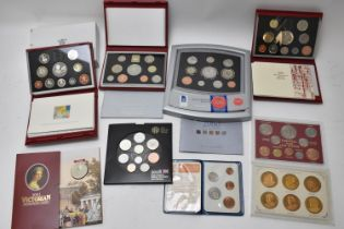 A group of United Kingdom coin collections 1997, 1998, 1999, 2000 and 2008