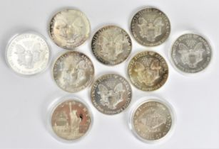 Official Silver Coins of The United States of America' part of the Royal Mint collection, eight '
