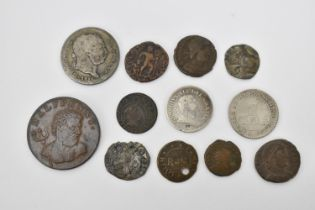 British coinage to include a Charles II (1649-1685), Scottish penny, crowned II, C R across field,