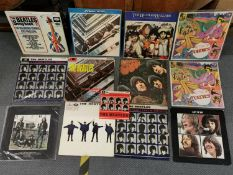 The Beatles vinyl records to include Please, Please Me, two copies of A Hard Days Night, Help!,