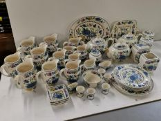 A collection of Masons Ironstone china, with Regency pattern, comprising of teapots, jugs, plates,