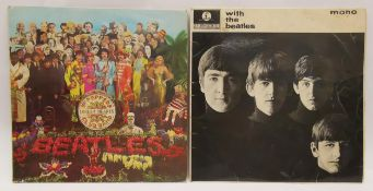 The Beatles, 'With the Beatles', 1963 UK pressing, PMC 1206, Parlophone, Sleeve: VG Disc: VG, 'Sgt