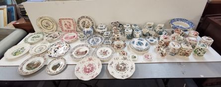 A large mixed collection of Masons Ironstone china with various patterns. Location 9:6
