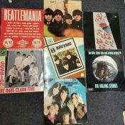 Seven vinyl records to include 'Beatles for Sale' 1st UK Pressing; 'Beatlemania', 'Beatles