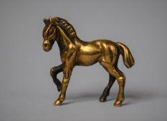 A Miniature Bronze Study of a Pony, 5cm High