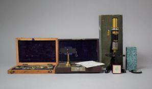 A Boxed Yarn Assorting Balance by John Nesbitt Together with a Set of Drawing Instruments and a