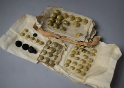 A Collection of Various Military Buttons