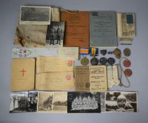 A Collection of WWI Ephemera Relating to PTE H.J.H Tilsley, Royal Fusiliers, to Include Victory