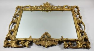 A Good Late 19th/Early 20th Century Florentine Gilt Framed Mirror, 75x63cms Overall, Some Elements