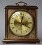 A Late 20th Century Metamec Mantel Clock with Wooden and Brass Surround Housing Inner Onyx Panels