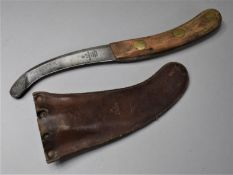 An Air Ministry Aircrew Parachute/Survival Knife by Rodgers of Sheffield, AMB.2856 39 CI, Leather