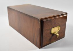 A Vintage Mahogany Card Index Filing Box 'The Advance', 40cm Long