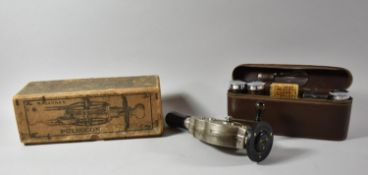 A Vintage Massage Machine, Macaura's Pulsocon in Original Cardboard Box Together with Leather