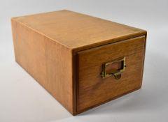 An Edwardian Oak Card Index Filing Box, 41.5cm Long