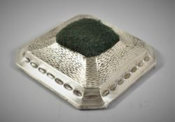 A Silver Mounted Hatpin Stand Birmingham 1935, 9.5cm Square