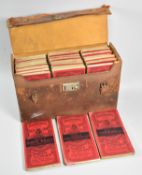 A Vintage Leather Cased Set of Bartholomew's New Reduced Survey Cloth Maps for Tourists and