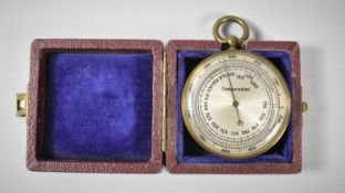 A Late 19th/Early 20th Century Cased Pocket Altimeter with Compensated Movement
