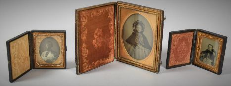 A Collection of Three Late Victorian Daguerreotype Photographic Portraits
