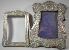 Two Silver Mounted Easel Back Photoframes, Both In Need of Attention, 24cm and 18cm high