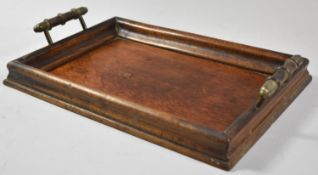 A Small Edwardian Two Handled Rectangular Drinks Tray, 31cm Wide