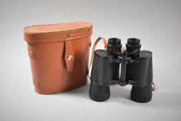 A Pair of Leather Cased Regent 10X50 Binoculars