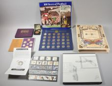 A Collection of Vintage Ephemera to Include Esso FA Cup Medals 1972, Coin Set 1970, Elvis Presley