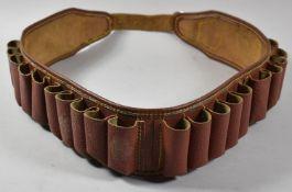 A Mid 20th Century Leather Cartridge Belt