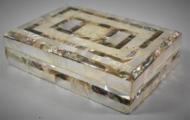 A Far Eastern Mother of Pearl Mounted Rectangular Jewellery Box, 17cm Wide