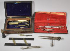 A Collection of Various Vintage Drawing Instruments