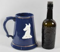A Large Cobalt Blue Glazed Whitbread & Co. Tankard by Harry Tunnicliffe Ltd Together with a