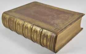 A 19th Century Rev. J Brown Holy Bible, with Coloured Plates and Listing the King Family History