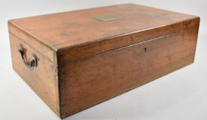 A 19th Century Mahogany Canteen Box by Mappin & Webb with Brass Carrying Handles and Escutcheon