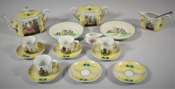 A Collection of Various Mid 20th Continental Doll's China Tea Wares