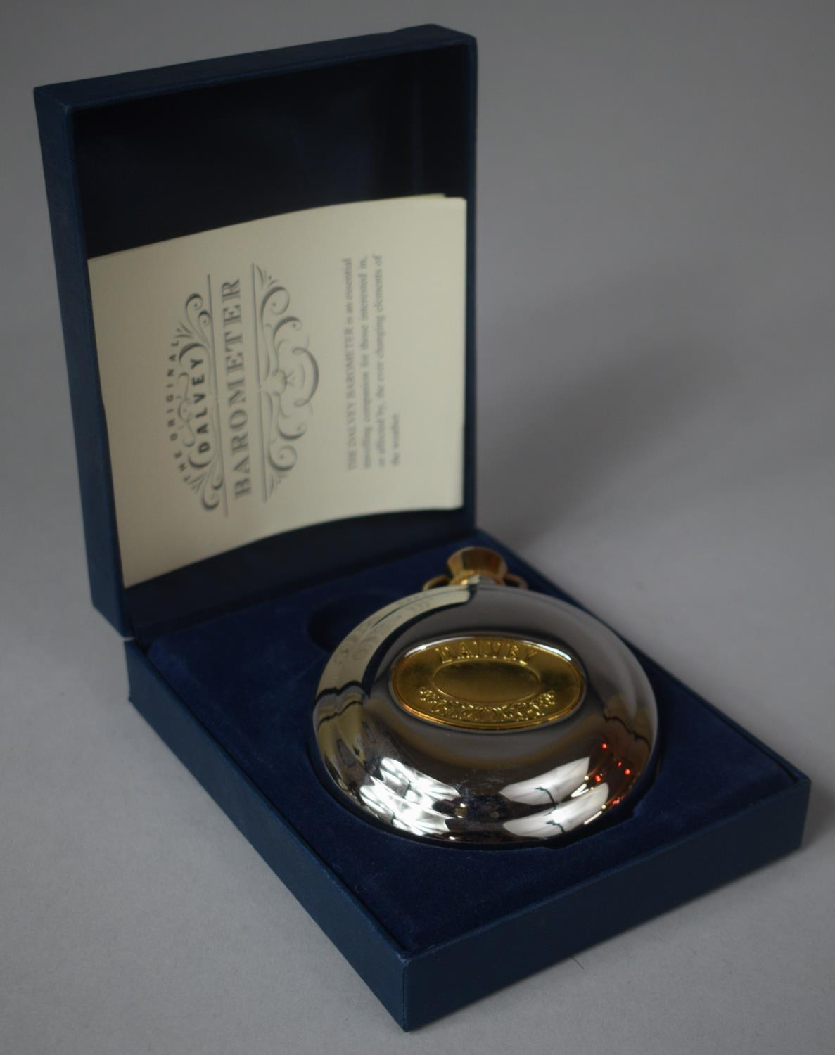 A Boxed Dalvey Barometer with Instruction Pamphlet, 8cm Diameter - Image 2 of 2