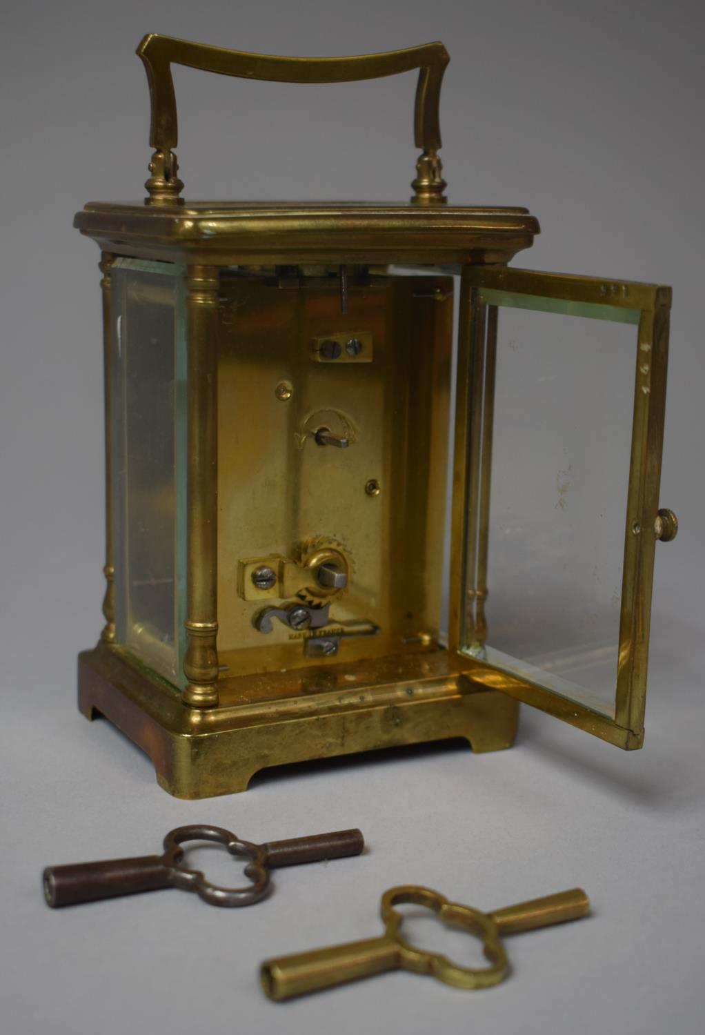 An Early/Mid 20th Century Brass Cased French Carriage Clock, Movement In Need of Attention, 12.5cm - Image 2 of 2