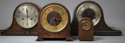 Two Mantle Clocks and a Westminster Chime Mantle Clock, All For Restoration Together with a Small