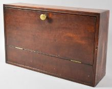 A Late 19th/Early 20th Century Wall Hanging Mahogany Box with Pull Down Front, 40cm wide