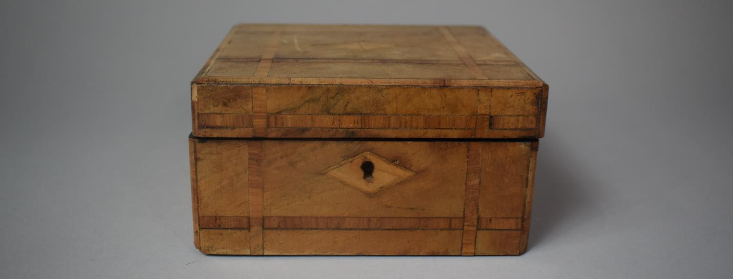 A Late 19th Century Inlaid Jewellery Box, Somewhat Faded, 19.5cm Wide - Image 2 of 3