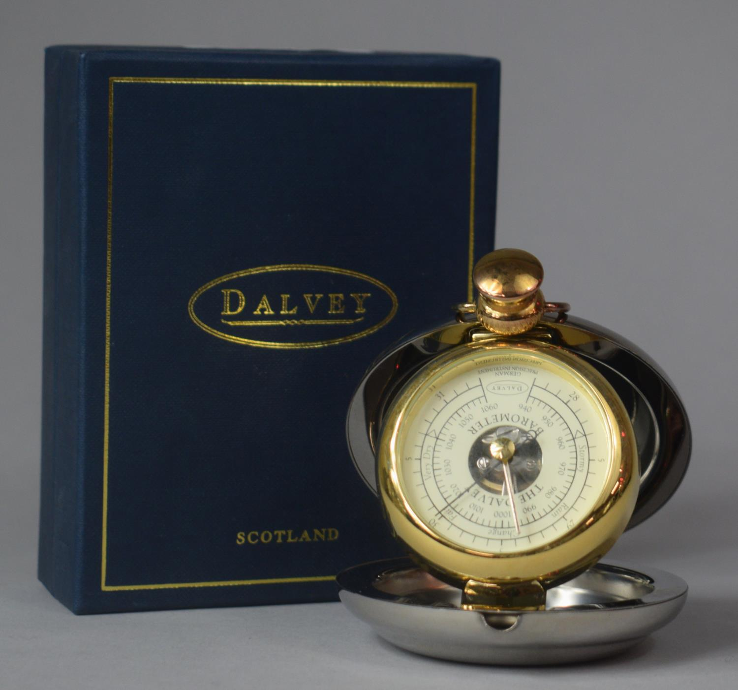 A Boxed Dalvey Barometer with Instruction Pamphlet, 8cm Diameter