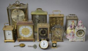 A Collection of Various Mid 20th Century Mantle Clocks, Mainly in Need of Attention