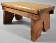 A Small Mid 20th Century Rectangular Oak Stool, 29.5cm x 18.5cm