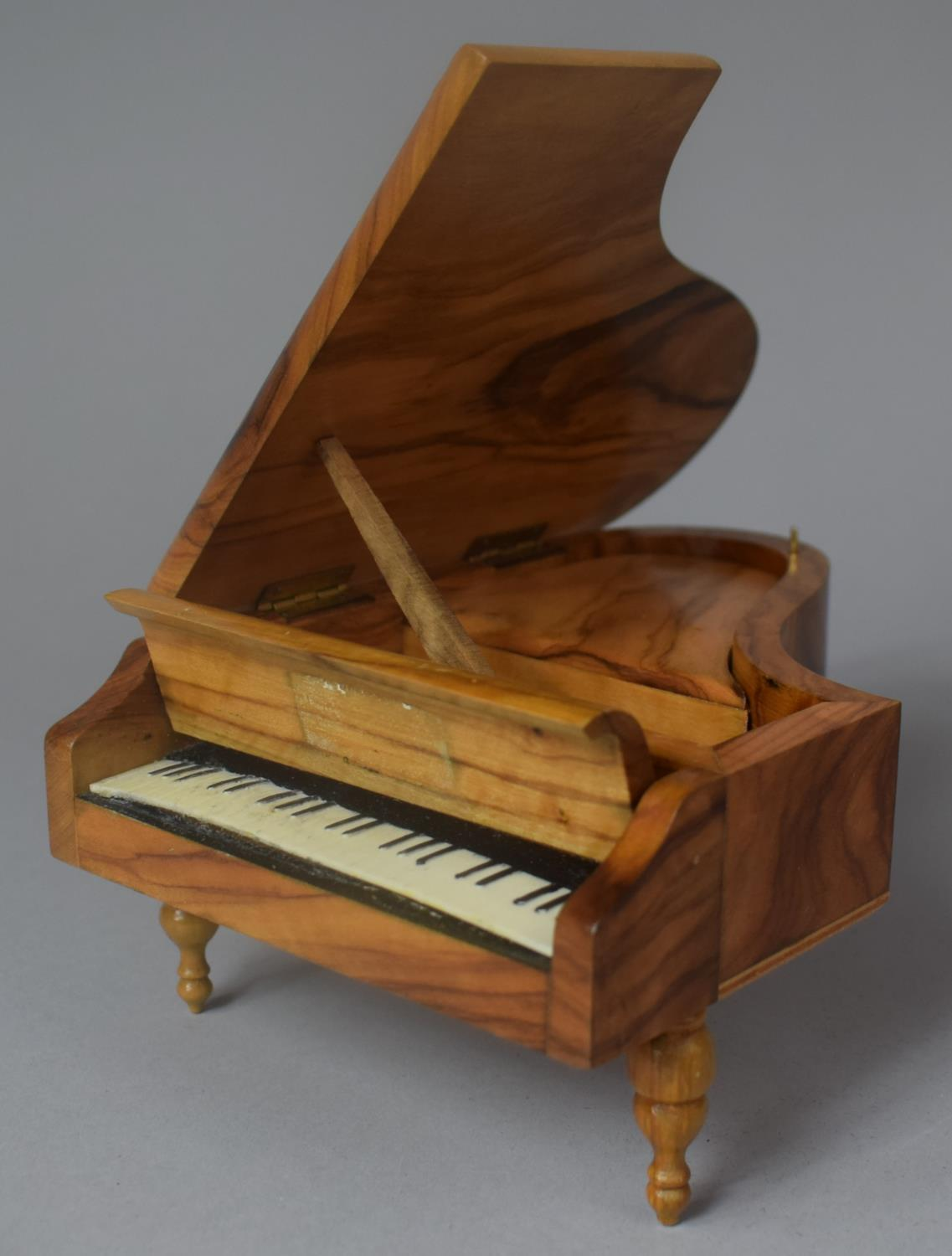 A Novelty Continental Musical Box in the Form of a Grand Piano, Movement Playing Dr. Zhivago, 17cm - Image 4 of 5