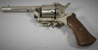 A 19th Century Belgian Rimfire Six Shot Pocket Revolver with Folding Trigger, Belgian Proof Marks