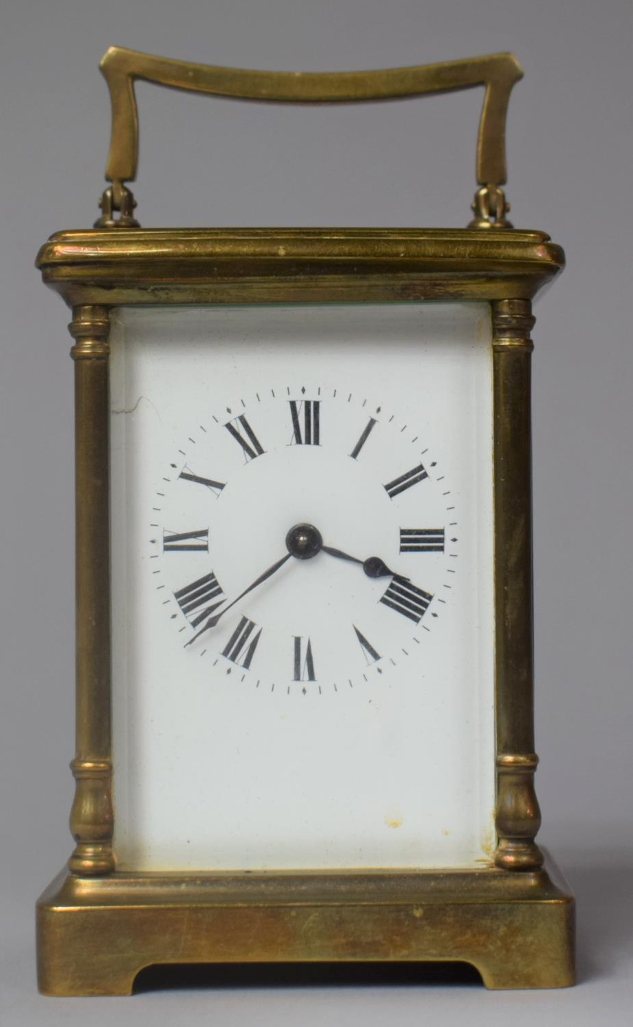 An Early/Mid 20th Century Brass Cased French Carriage Clock, Movement In Need of Attention, 12.5cm