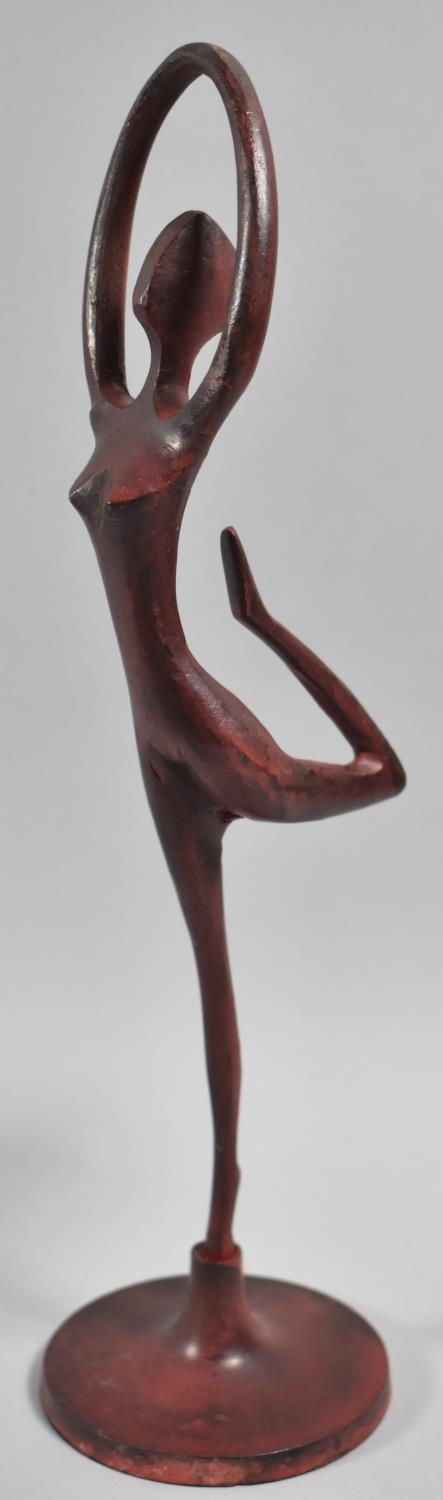 An Indian Modern Art Study of a Nude with Arms Raised, 28.5cm high