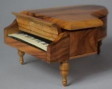 A Novelty Continental Musical Box in the Form of a Grand Piano, Movement Playing Dr. Zhivago, 17cm